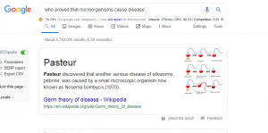 who proved that microorganisms cause disease